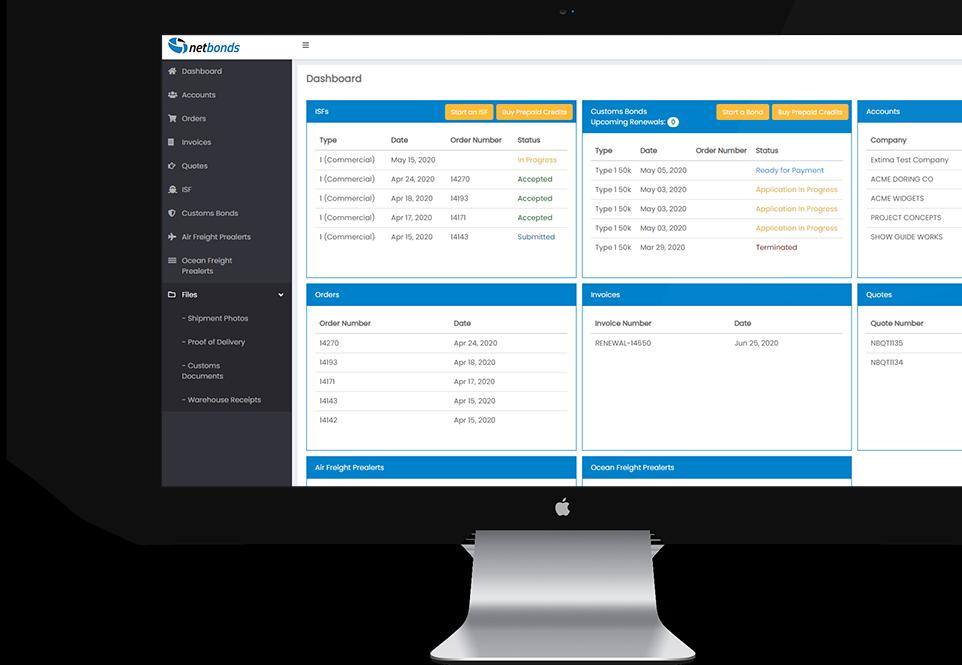 Monitor with netcloud dashboard